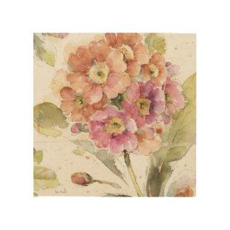 Quadro De Madeira Prímula cor-de-rosa e alaranjada