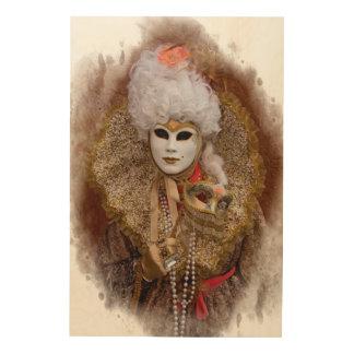 Quadro De Madeira Retrato do traje do carnaval, Veneza