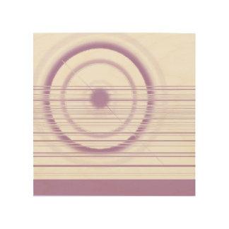 Quadro De Madeira roda violeta
