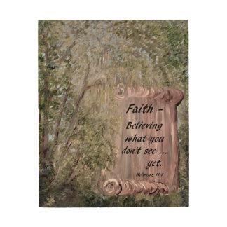 Quadro De Madeira Rolo da fé