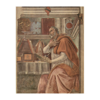 Quadro De Madeira S. Augustinus no estúdio Sandro Botticelli