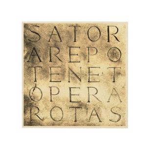 Quadro De Madeira Símbolo mágico secreto antigo das rotas de Sator