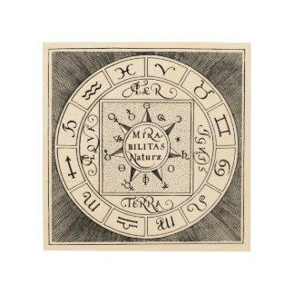 Quadro De Madeira Símbolos do zodíaco do sinal da astrologia