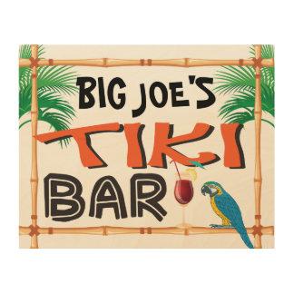 Quadro De Madeira Sinal conhecido feito sob encomenda do bar de Tiki