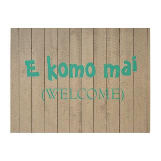 Quadro De Madeira Sinal de madeira (bem-vindo) do MAI de E Komo