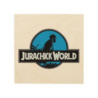 Quadro De Madeira Sinal de madeira da cor do mundo de Jurachick