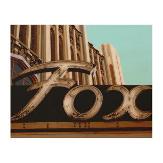 Quadro De Madeira Sinal histórico do teatro do Fox