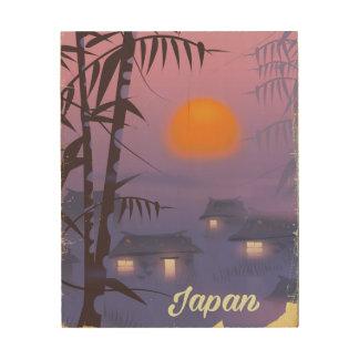 Quadro De Madeira Sol de ajuste da paisagem de Japão
