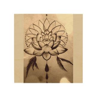 Quadro De Madeira Sonhos de Lotus