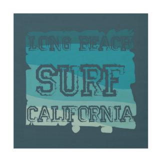 Quadro De Madeira Surf Califórnia de Long Beach