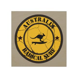 Quadro De Madeira Surfar em Austrália
