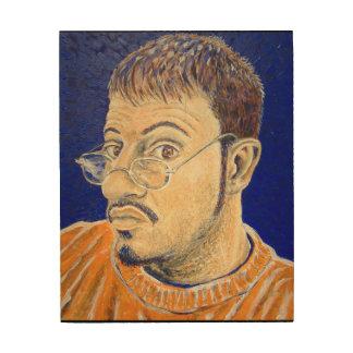 Quadro De Madeira Suspensão de madeira do painel da arte do retrato