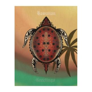 Quadro De Madeira Tatuagem da tartaruga da fantasia