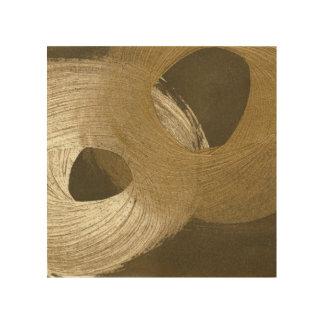 Quadro De Madeira Tempestade de areia circular em Tan e em Brown