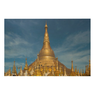 Quadro De Madeira Templo dourado de Stupa