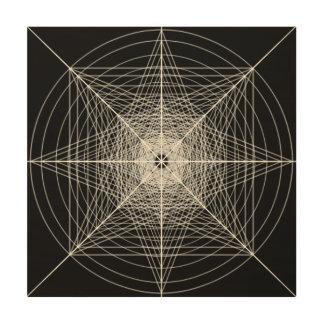 Quadro De Madeira Terceira geometria sagrado dimensional