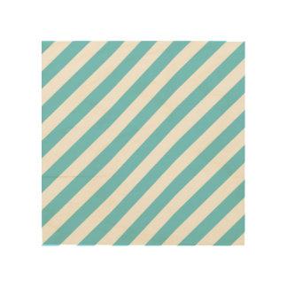 Quadro De Madeira Teste padrão diagonal azul e branco das listras