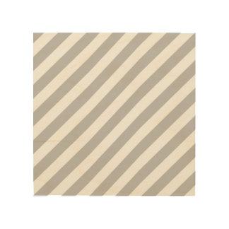 Quadro De Madeira Teste padrão diagonal do cinza e o branco das