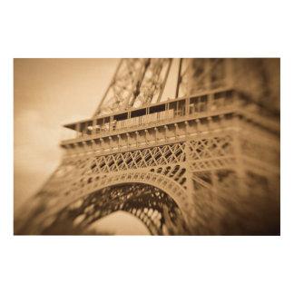 Quadro De Madeira Torre Eiffel do Sepia, Paris, France