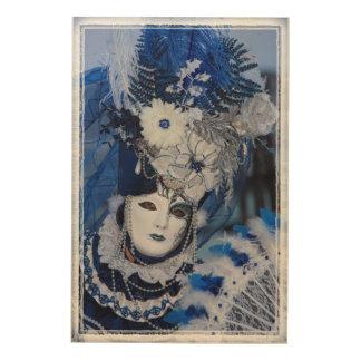Quadro De Madeira Traje azul do carnaval, Veneza