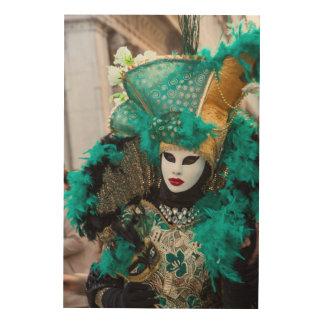 Quadro De Madeira Traje do carnaval da cerceta, Veneza