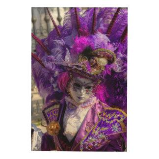 Quadro De Madeira Traje do carnaval, Veneza