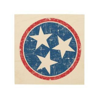 Quadro De Madeira Tri estrela de Tennessee