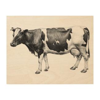 Quadro De Madeira Vaca de leiteria