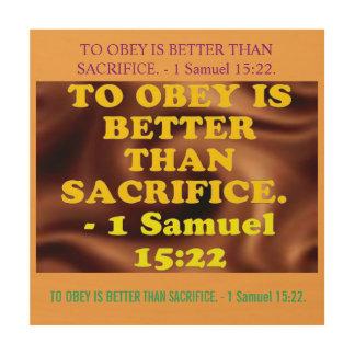 Quadro De Madeira Verso da bíblia de 1 15:22 de Samuel.