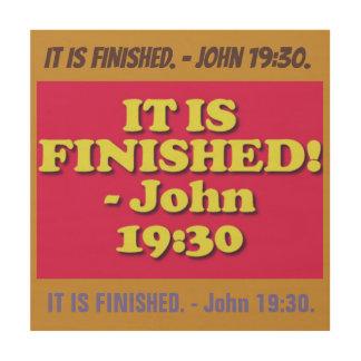 Quadro De Madeira Verso da bíblia do 19:30 de John.