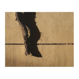 Quadro De Madeira Videira e sombra inoperantes da hera
