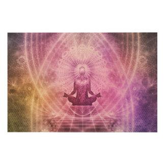 Quadro De Madeira Zen espiritual da meditação da ioga colorido