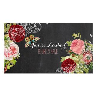 Quadro de PixDezines/rosas vintage de Redoute Cartão De Visita