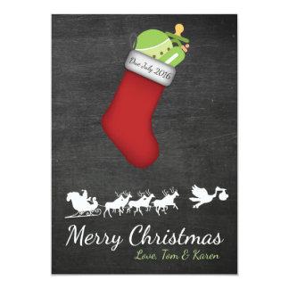 Quadro do anúncio da gravidez do cartão de Natal