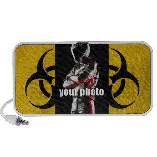 Quadro do Biohazard sua foto Caixinhas De Som