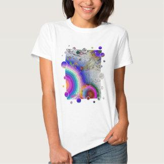 Quadro do branco do Sunburst do esmalte T-shirt