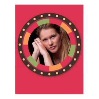 Quadro do círculo do divertimento - folha do por cartão postal