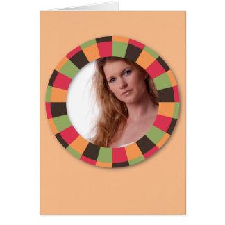 Quadro do círculo do divertimento - folha do por d cartão