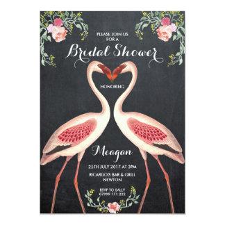 Quadro do convite do flamingo do chá de panela