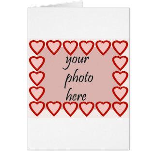 Quadro do coração para sua imagem cartão comemorativo
