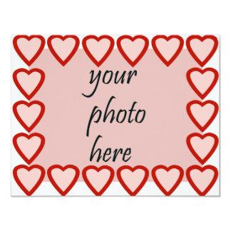 Quadro do coração para sua imagem convite personalizados