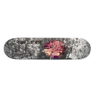 Quadro do modelo do skate da foto do Grunge