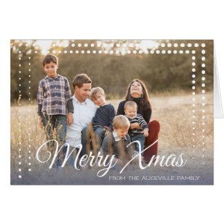 Quadro do ponto - Natal - cartão dobrado
