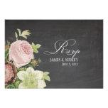 Quadro do rsvp de PixDezines+rosas do vintage