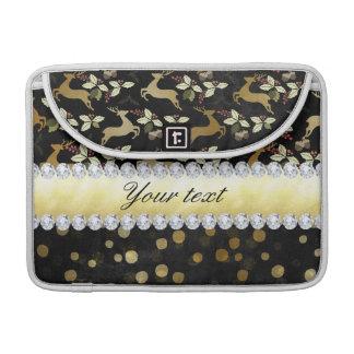 Quadro dos diamantes dos confetes dos cervos do capa para MacBook
