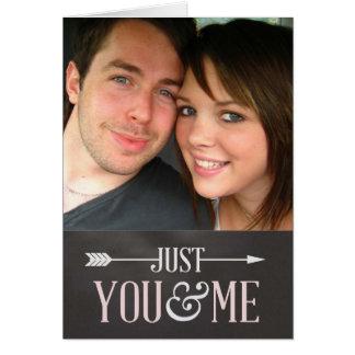 Quadro dos namorados - apenas você & mim foto cartão comemorativo