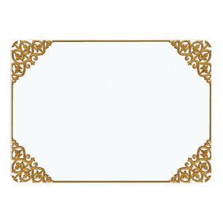 Quadro dourado convite 12.7 x 17.78cm