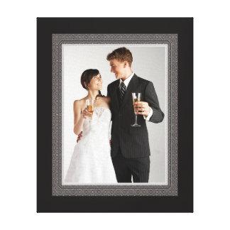 Quadro elegante da foto do casamento do estilo do