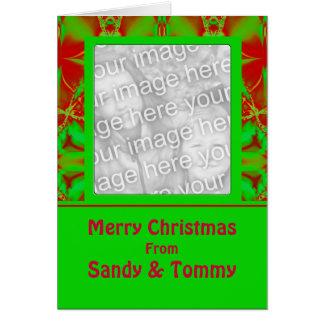 Quadro festivo da foto do Natal Cartão Comemorativo