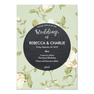 Quadro floral azul pálido do convite do casamento